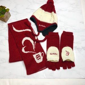 Tim Hortons matching hat/glove/scarf set